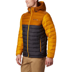 Columbia Powder Lite Veste à capuche Homme, shark/burnished amber